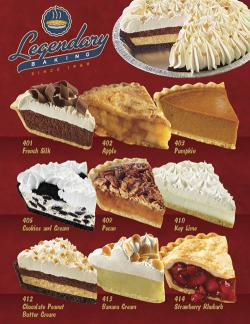 Legendary Pies (Single Sheet)