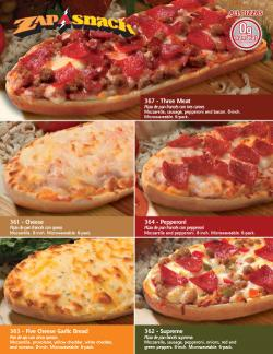 Zap-A-Snack French Bread Pizza